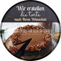 Rund | Die Torte Ihrer Wünsche Poster | Werbebanner für Bäckerei | Rundformat