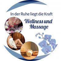 Rund | Wellness und Massage Plakat | Werbetafel für Massage | Rundformat