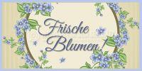 2:1   Frische Blumen Werbeschild   Werbung Plakat erstellen   2 zu 1 Format