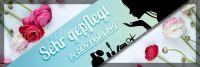 3:1 | Sehr gepflegt in den Frühling Werbelakat | Banner für dein Kosmetikstudio | 3 zu 1 Format