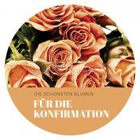Rund   Blumen für die Konfirmation Poster   für Plakatständer   Rundformat
