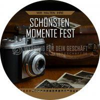 Rund | Die schönsten Momente Poster | Werbetafel für Fotostudios | Rundformat