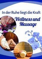 Wellness und Massage Plakat | Werbetafel für Massage