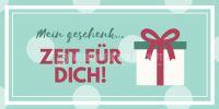2:1 | Mein Geschenk Plakat | Werbeplakat für Gutscheine | 2 zu 1 Format
