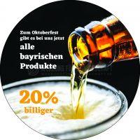 Rund | Rabatt auf bayrische Produkte Poster | Poster auch in DIN A 1 | Rundformat