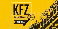 2:1 | KFZ Inspektionen Plakat | Werbeschild für Autohaus | 2 zu 1 Format