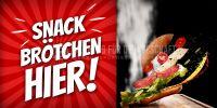 2:1 | Snack Brötchen Poster | Werbetafel für Bäckerei | 2 zu 1 Format