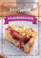 Köstlicher Pflaumenkuchen Plakat | Werbeplakat für Bäckerei