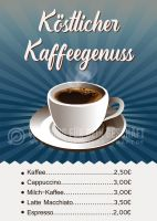 Köstlicher Kaffeegenuss Poster