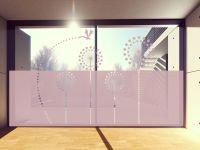 Sichtschutzfolie   Fenstertattoo im Pusteblumen-Design   Pusteblumenoptik