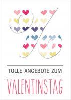 Angebote zum Valentinstag Plakat | Werbeplakat für Valentinstag