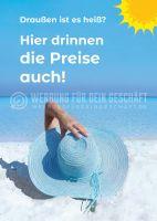Heiße Preise Poster | Werbeposter für Reisebüro