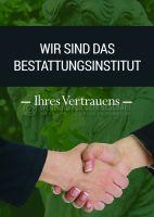 Bestattungsinstitut Ihres Vertrauens Werbetafel | Poster kaufen