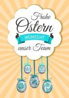 Frohe Ostern wünscht unser Team Plakat | Werbung