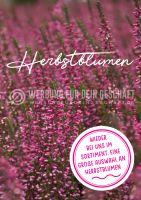 Herbstblumen Plakat