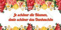 2:1 | Je schöner die Blumen Poster | Werbeposter für Blumenläden | 2 zu 1 Format