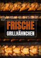 Frische Grillhähnchen Poster | Werbeposter Grillhähnchen