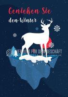 Genießen Sie den Winter Werbetafel | Poster kaufen
