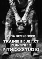 Fit in den Sommer Poster | Werbebanner für Fitnessstudios