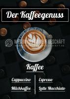 Kaffeegenuss Plakat | Werbeposter Kaffee