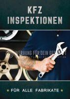 KFZ Inspektion für alle Fabrikate Plakat | Werbeposter online drucken