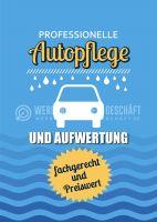 Professionelle Autopflege Poster | Werbeschild Autopflege