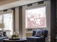 Sichtschutzfolie | Milchglasfolie Blumenranke | Blumenrankendesign