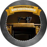 Rund | Änderungsschneiderei Plakat | Werbebanner für Schneiderei | Rundformat