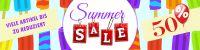 4:1 | Summer Sale Plakat | Viele Artikel reduziert | 4 zu 1 Format