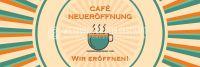 3:1 | Cafe Neueröffnung Poster | Werbetafel für Cafes | 3 zu 1 Format