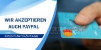 2:1   Paypal und Kreditkartenzahlung Poster   Werbeposter für Geschäfte   2 zu 1 Format