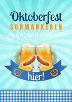 Oktoberfest Schmankerln Plakat | Werbeplakat für Oktoberfest