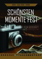 Die schönsten Momente Poster | Werbetafel für Fotostudios