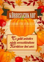 Kürbisverkauf Plakatwerbung | Werbetafel für Gärtnerei | Poster kaufen