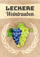 Leckere Weintrauben Plakat | Werbeposter Weintrauben