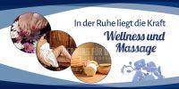 2:1 | Wellness und Massage Plakat | Werbetafel für Massage | 2 zu 1 Format