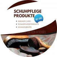 Rund | Schuhpflege Produkte Werbetafel | Plakat auch in DIN A 2 | Rundformat