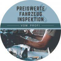 Rund | Preiswerte Fahrzeug Inspektion Poster | Plakat auch in DIN A 0 | Rundformat