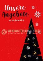 Unsere Angebote zu Weihnachten Poster | Werbung für Plakatständer