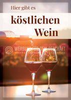 Köstlicher Wein Poster | Werbetafel für Wein