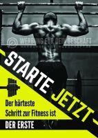 Starte jetzt Poster | Werbeposter für Fitnessstudio