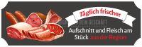 3:1 | Aufschnitt und Fleisch aus der Region Poster | Werbeposter für Metzger | 3 zu 1 Format
