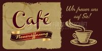 2:1 | Cafe Neueröffnung - Wir freuen uns auf Sie - Poster | Werbeposter | 2 zu 1 Format