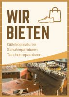 Wir bieten Schuhreparaturen Plakat | Poster kaufen
