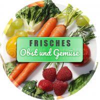 Rund | Obst und Gemüse Plakat | Werbeposter Obst und Gemüse | Rundformat