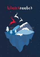 Winterzauber Werbebanner | Werbung Plakat erstellen