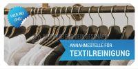 2:1 | Annahmestelle für Textilreinigung Werbetafel | Poster kaufen | 2 zu 1 Format