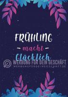 Frühling macht glücklich Poster | Plakat hier kaufen