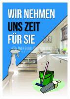 Wir nehmen uns Zeit Poster | Werbeschild für Reinigung