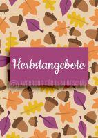 Herbstangebote Poster | Werbebanner für Geschäfte